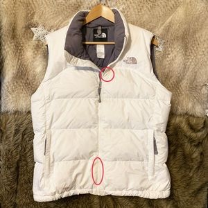 The North Face White Puffer Vest